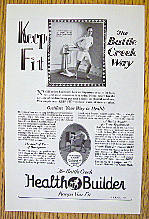 1929 Health Builder With Battle Creek Health Builder