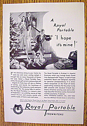 1930 Royal Portable Typewriter with Christmas Morning (Image1)