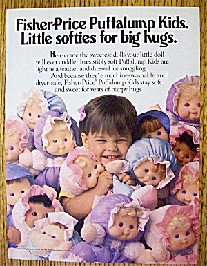 1992 Fisher Price Puffalump Kids With Little Girl