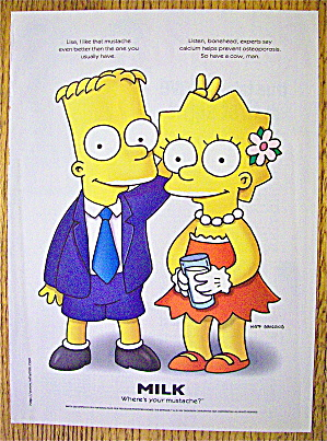 1997 Milk With Bart & Lisa Simpson