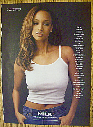 1998 Milk With Model & Talk Show Host Tyra Banks