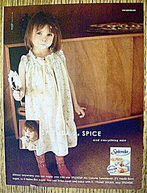 2004 Splenda Sweetener with Little Girl Holding Beater (Image1)