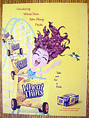 2004 Wheat Thins With Girl On Roller Coaster