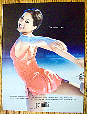 2005 Milk with Skater Michelle Kwan (Image1)