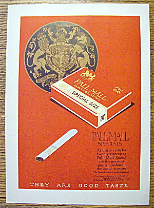 1924 Pall Mall Cigarettes with Pack Of Cigarettes (Image1)
