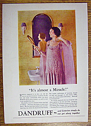 1926 Listerine with Woman Looking Into Mirror (Image1)