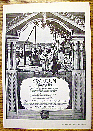 1926 Swedish State Railways with Sweden Welcomes You (Image1)