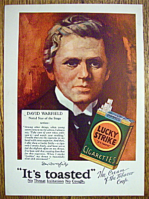 1928 Lucky Strike Cigarettes With David Warfield