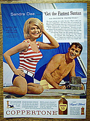 1963 Coppertone Suntan Lotion W/sandra Dee