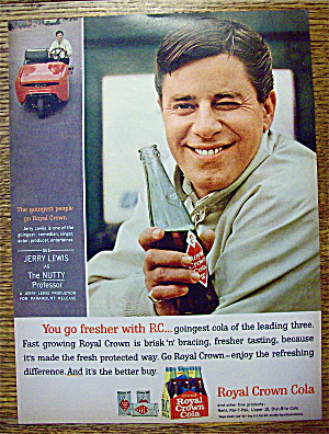 1963 Royal Crown Cola (Rc) With Jerry Lewis