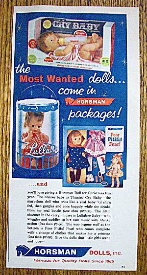 1963 Horsman Dolls with Thirstee Cry Baby Doll (Image1)