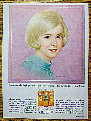 1964 Breck Shampoo with Lovely Blonde Haired Woman (Image1)
