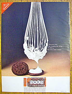 1965 Nabisco Oreo Cookies With Whisk & Cookie