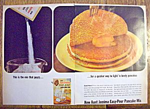 1965 Aunt Jemima Easy Pour Pancake Mix w/Pancake (Image1)
