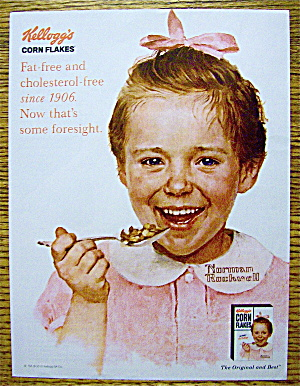 2010 Kellogg's Corn Flakes With Girl By Norman Rockwell