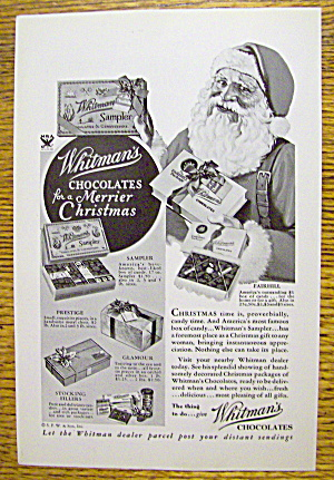 1933 Whitman's Chocolates with Santa Claus (Image1)