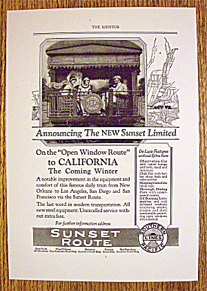 1924 Southern Pacific Lines with Sunset Route (Image1)
