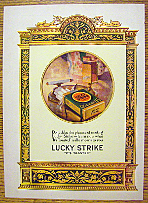 1926 Lucky Strike Cigarettes with Pack of Cigarettes (Image1)