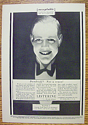1928 Listerine with a Creepy Man Smiling (Image1)
