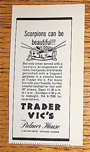 1966 Trader Vic's (The Palmer House) w/Scorpions (Image1)