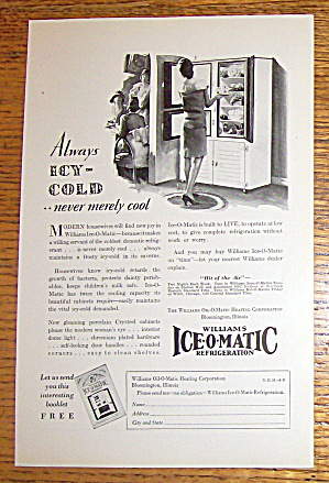 1929 Williams Ice-O-Matic with Woman In Refrigerator (Image1)