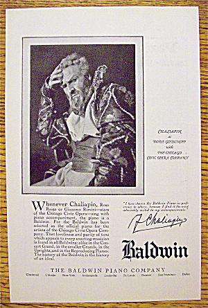 1925 Baldwin Piano Company with Chaliapin (Image1)