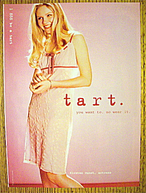 1998 Tart With Actress Kirsten Dunst