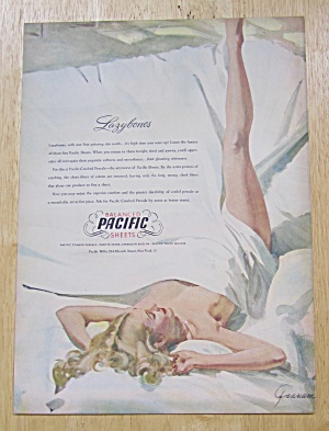 1947 Pacific Balanced Sheets W/ Woman Wrapped In Sheet