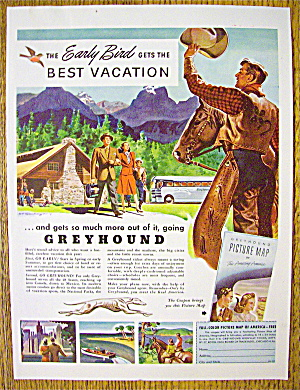 1947 Greyhound with Cowboy Waving Hat To Couple (Image1)