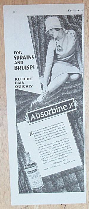 1929 Absorbine Jr with Woman Holding Her Ankle  (Image1)