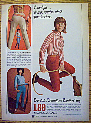 1965 Lee Stretch Frontier Ladies Pants W/woman