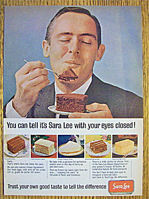 1965 Sara Lee Cake with Man Smiling And Eating Cake (Image1)