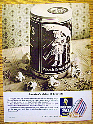 1965 Morton Salt with Little Girl On Container (Image1)