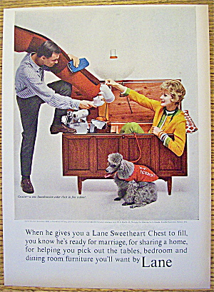 1963 Lane Sweetheart Chest With Woman Sitting Inside