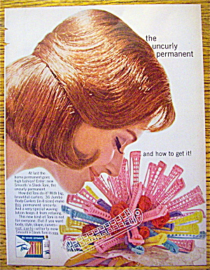 1963 Toni Home Permanent w/ Woman Smelling Rollers (Image1)