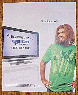 2010 Geico Insurance with The Caveman (Image1)