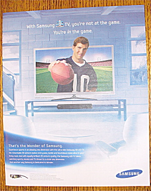 2010 Samsung with New York Giants' Eli Manning (Image1)