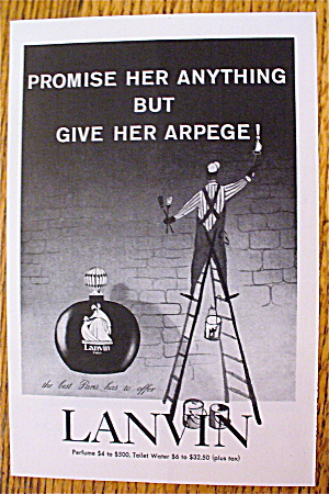 1964 Lanvin Perfume With Man Painting (Image1)