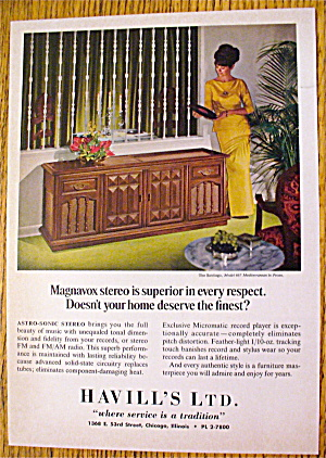 1966 Magnavox Stereo With The Santiago & Woman