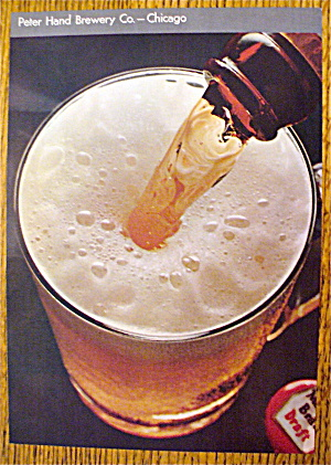 1966 Peter Hand Brewery With Glass Of Beer
