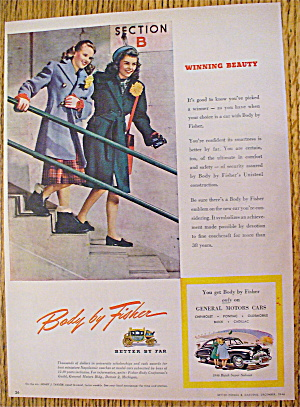 1946 Body By Fisher With Girls Going Down Stairs