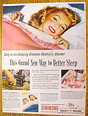 1946 Simmons With Lovely Woman In Bed (Image1)