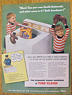 1956 Tide Detergent With 2 Boys And Boxing Gloves