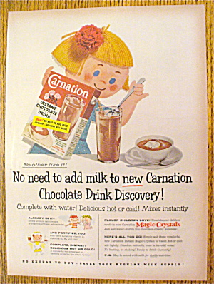 1955 Carnation Drink Mix With Little Girl
