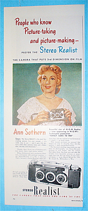 1949 Stereo Realist With Ann Sothern