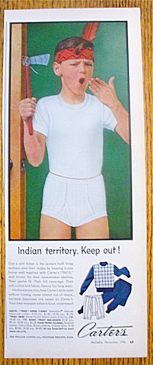 1956 Carter's Clothes With Boy & Indian Feather (Image1)