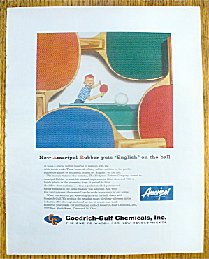1960 Goodrich Gulf Chemicals With Boy And Paddle