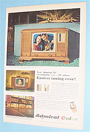 1966 Admiral Color With Rectangular Television