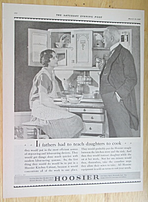 1928 Hoosier Kitchen Cabinets with Man & Woman Talking (Image1)