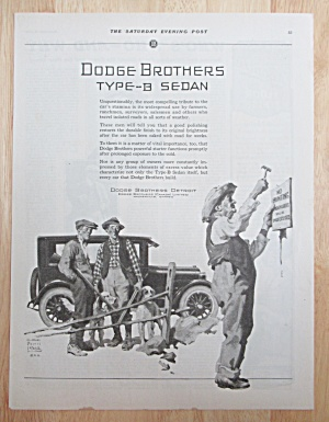 1924 Dodge Automobile With Dodge Brothers Type B Sedan